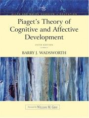 Cover of: Piaget's theory of cognitive and affective development