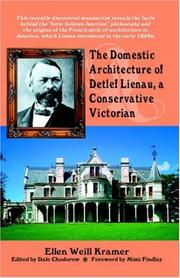 Cover of: The Domestic Architecture of Detlef Lienau, a Conservative Victorian