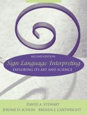 Cover of: Sign Language Interpreting | David A. Stewart