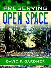 Cover of: Preserving Open Space