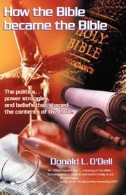 Cover of: How the Bible Became the Bible