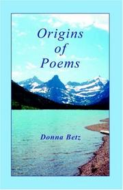 Cover of: Origins of Poems
