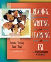 Reading, Writing and Learning in ESL by Suzanne F. Peregoy, Owen F. Boyle, Owen Boyle