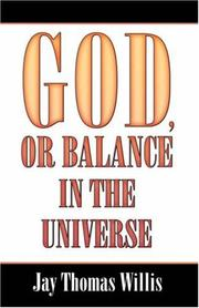 Cover of: God, Or Balance in the Universe