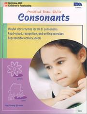 Cover of: Consonants (Modified Basic Skills)