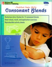 Cover of: Consonant Blends (Modified Basic Skills)