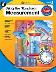 Cover of: Using the Standards - Measurement, Grade 3 (100+)