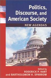 Cover of: Politics, Discourse, and American Society