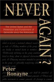 Cover of: Never Again?