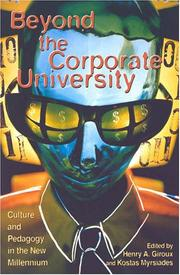 Cover of: Beyond the Corporate University