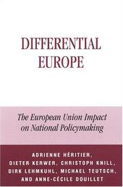 Cover of: Differential Europe
