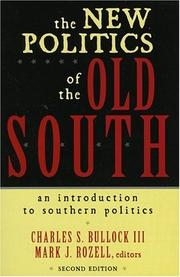 Cover of: The new politics of the old South