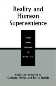 Cover of: Reality and Humean Supervenience