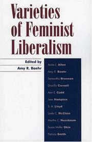 Cover of: Varieties of Feminist Liberalism (Feminist Constructions)