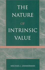 Cover of: The nature of intrinsic value