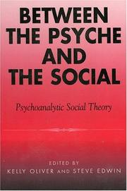Cover of: Between the Psyche and the Social