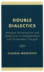 Cover of: Double Dialectics