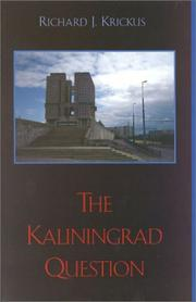 Cover of: The Kaliningrad question