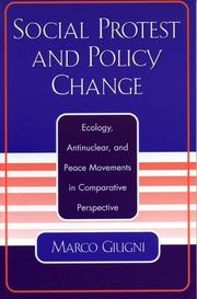 Cover of: Social Protest and Policy Change