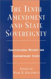 Cover of: The Tenth Amendment and State Sovereignty