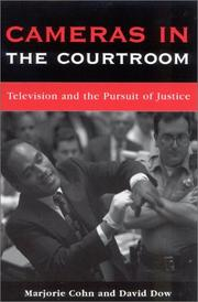 Cover of: Cameras in the Courtroom | Marjorie Cohn