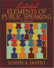 Cover of: Essential Elements of Public Speaking, The (2nd Edition) (MySpeechLab Series) | Joseph DeVito