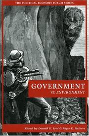 Cover of: Government vs. Environment (Political Economy Forum)