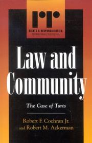 Cover of: Law and community