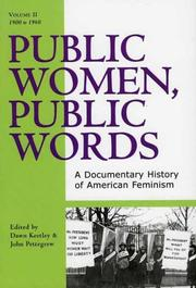 Cover of: Public Women, Public Words