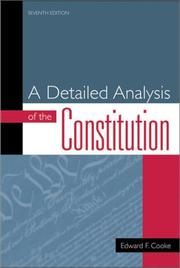 Cover of: detailed analysis of the Constitution | Edward Francis Cooke