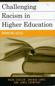 Cover of: Challenging Racism in Higher Education