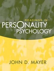 Cover of: Readings in Personality Psychology