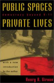 Cover of: Public Spaces, Private Lives: Democracy Beyond 9/11