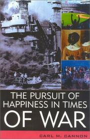 Cover of: The pursuit of happiness in times of war