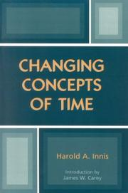 Cover of: Changing concepts of time