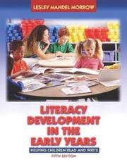 Cover of: Literacy Development in the Early Years