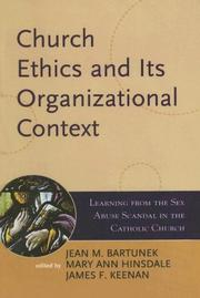 Cover of: Church Ethics and Its Organizational Context