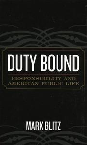 Cover of: Duty Bound | Mark Blitz