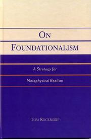 Cover of: On Foundationalism