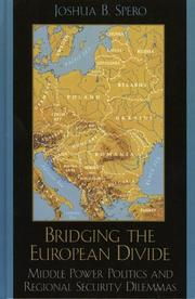 Cover of: Bridging the European divide