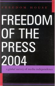 Cover of: Freedom of the Press 2004