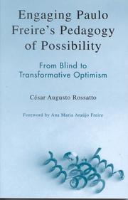 Cover of: Engaging Paulo Freire's Pedagogy of Possibility