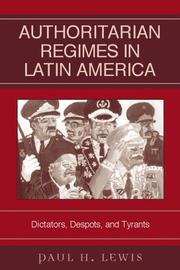 Cover of: Authoritarian Regimes in Latin America