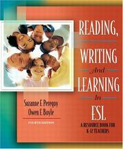 Cover of: Reading, Writing and Learning in ESL | Suzanne F. Peregoy