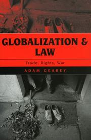 Cover of: Globalization and Law | Adam Gearey