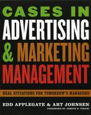 Cover of: Cases in Advertising and Marketing Management