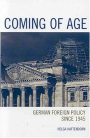 Cover of: Coming of age | Helga Haftendorn