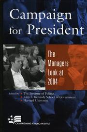 Cover of: Campaign for President | John F. Kennedy School of Government