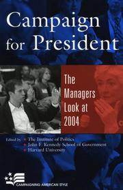 Cover of: Campaign for President