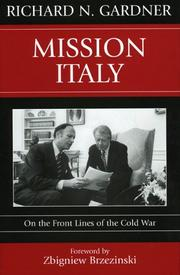 Cover of: Mission Italy: On the Front Lines of the Cold War